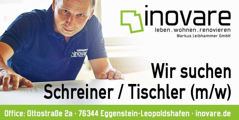 Wir suchen Tischler / Schreiner