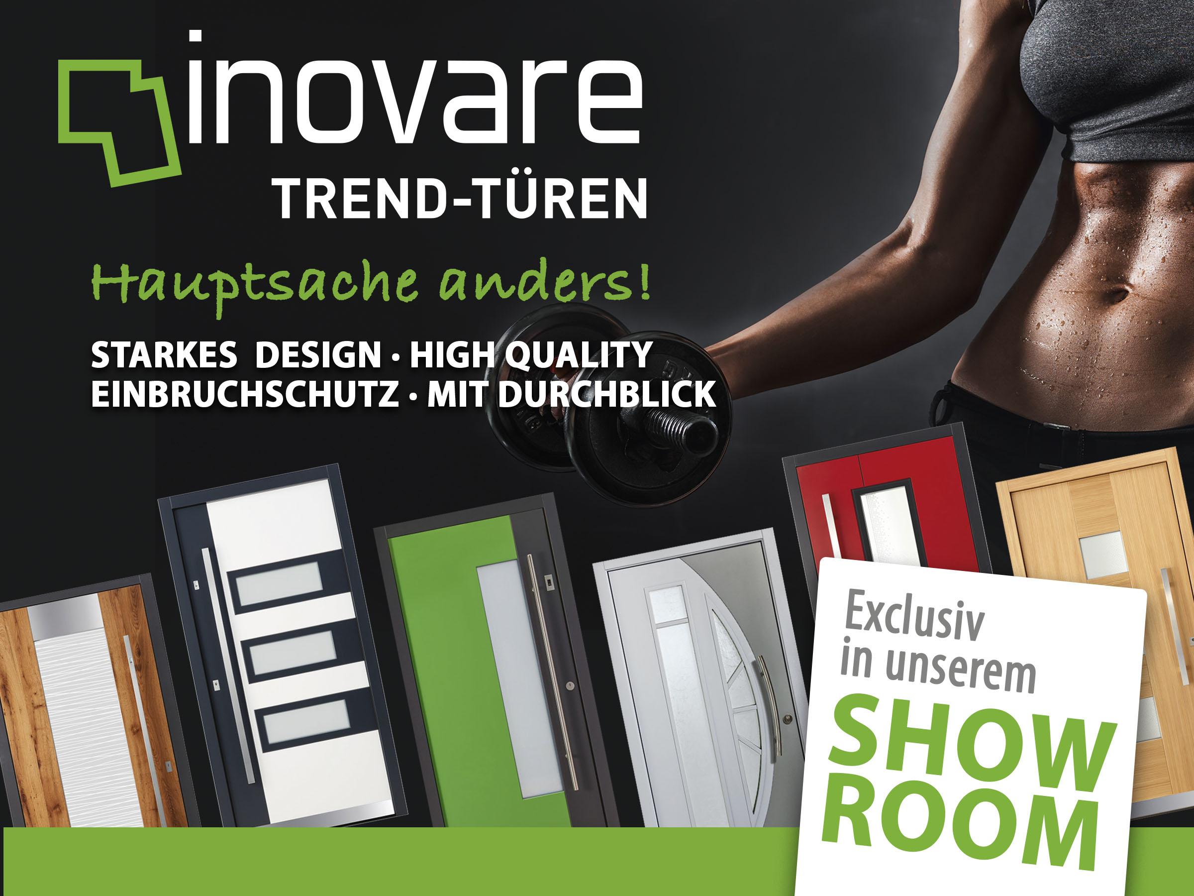 Inovare Trendtüren –Strakes Desing - High Quality - Einbruchschutz - mit Durchblick